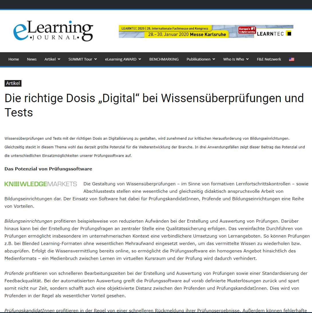 E-Learning Journal